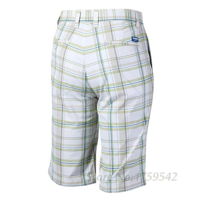 c6971dbf18ed PGM Golf Authentic Men Golf Plaid Shorts Male Golf Summer Trousers Clothes  Golf Apparel Thin Breathable