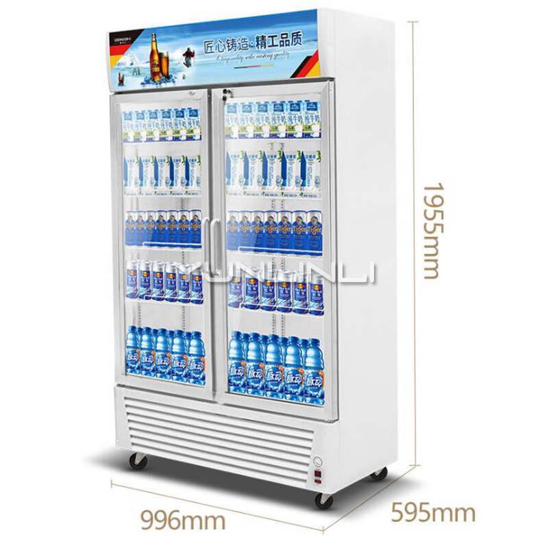 Commercial Beverage Showcase Vertical Type Drinks Refrigerating Cabinet 688L Large Capacity Beverage Display Case LG-760A аксессуар клипсы держатели bluelounge cableclip large blucc lg