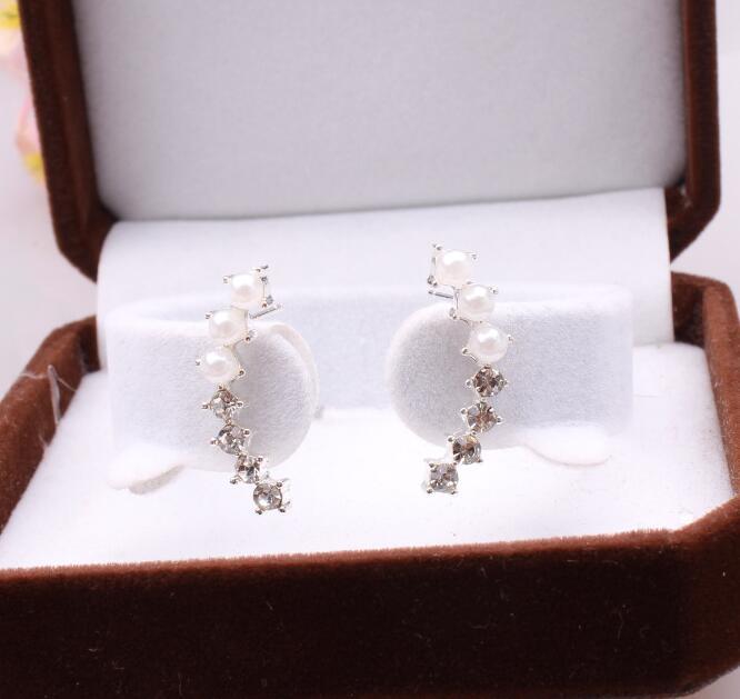 Stud Earrings ear rings Fashion for women Girls lady colorful cystal