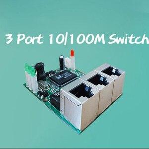 Image 3 - OEM hersteller unternehmen direkter verkauf der Realtek chip RTL8306E mini 10/100 mbps rj45 lan hub 3 port ethernet switch pcb board