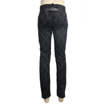 Gothic Punk Victorian Mens Pants Black Steampunk Fitness Casual Male Trousers Slimming Fitted Feet Pants Large Sizes S-XXXL 10