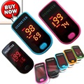 On Sale  No.1 LED Finger Pulse Oximeter Blood Oxygen Saturation Monitor SPO2 PR Pink/Blue/Oraneg/Green/ Black  FDA CE