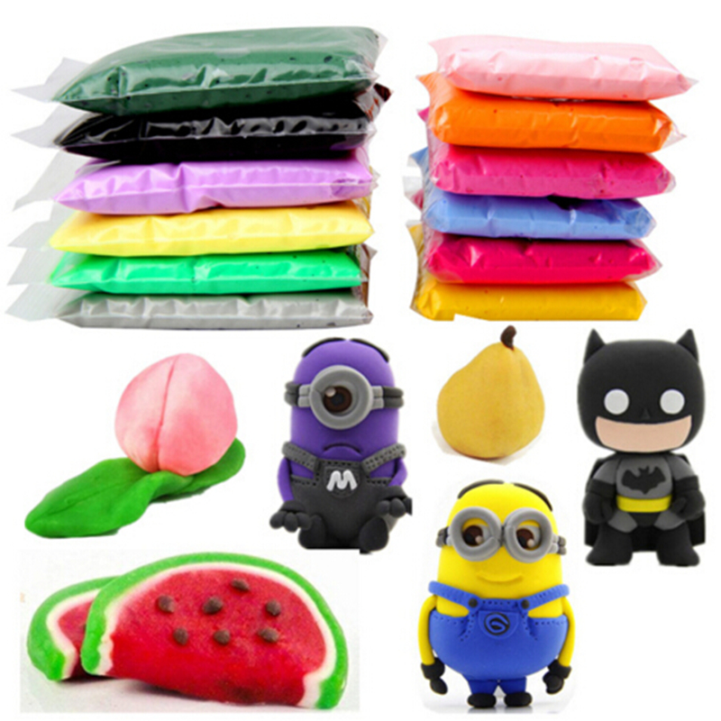 6pcs/lot 20g DIY safe and nontoxic Malleable Fimo Polymer Clay playdough Soft Power play dough gifts for children