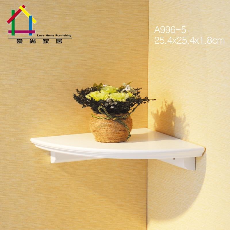 creative wall corner storage shelf highlights white stoving