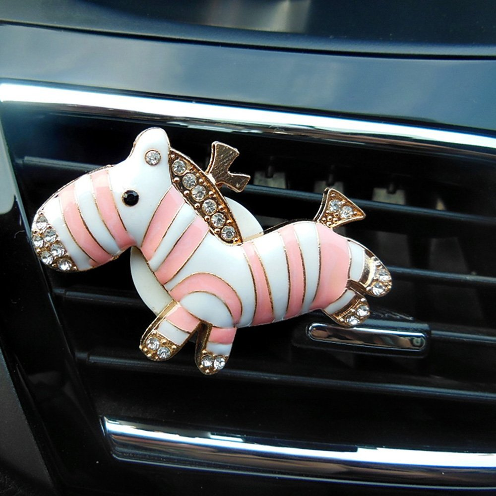 1pair Cute Zebra Car Auto Air Freshener Outlet Clip Solid Scent Diffuser Decor Accessories In From Automobiles Motorcycles On