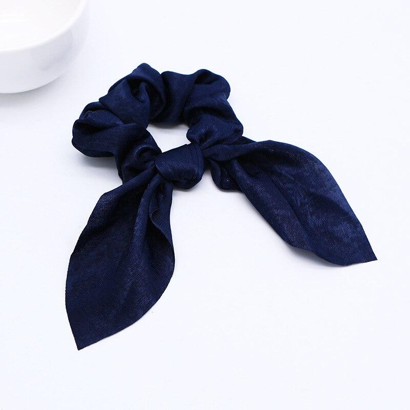 Новинка года. Модные резинки для волос с бантом. Резинки для волос для девочек. Резинки для волос в виде конского хвоста. Аксессуары для волос - Цвет: D Navy