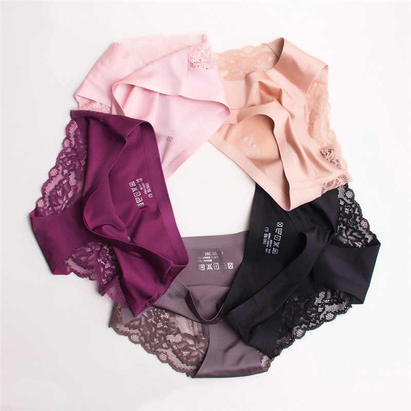 ... Sexy Lace Panties Seamless Women Underwear Briefs Nylon Silk for Ladies  Bikini Cotton Transparent Lingerie DULASI ... 4bcddbd90