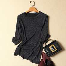 Knitted Summer T Shirt Women Casual Half Sleeves T-Shirt Breathable Elasticity Knitwear Top O-Neck Female Tshirt
