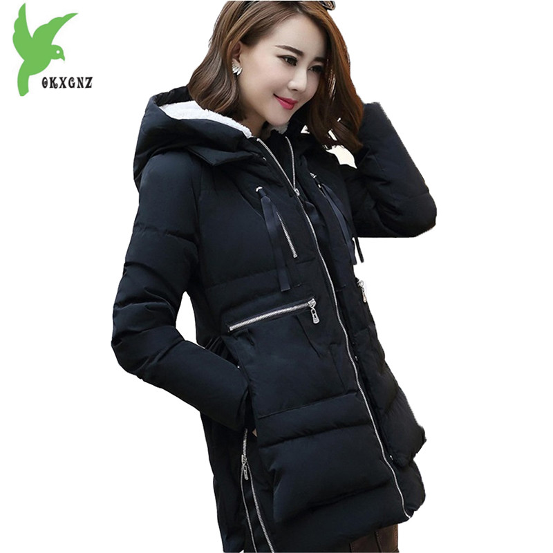 Plus Size 5XL Women's Winter Down Cotton Jacket New Fashion Solid Color Hooded Casual Costume Thicker Slim Warm Coat OKXGNZ A915 winter women s cotton coats solid color hooded casual tops outerwear plus size thicker keep warm jacket fashion slim okxgnz a712