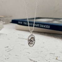 Guardian Angel Pendants Necklace 925 Sterling Silver 45cm 60cm Bead Chain Simple Vintage Design Necklace For