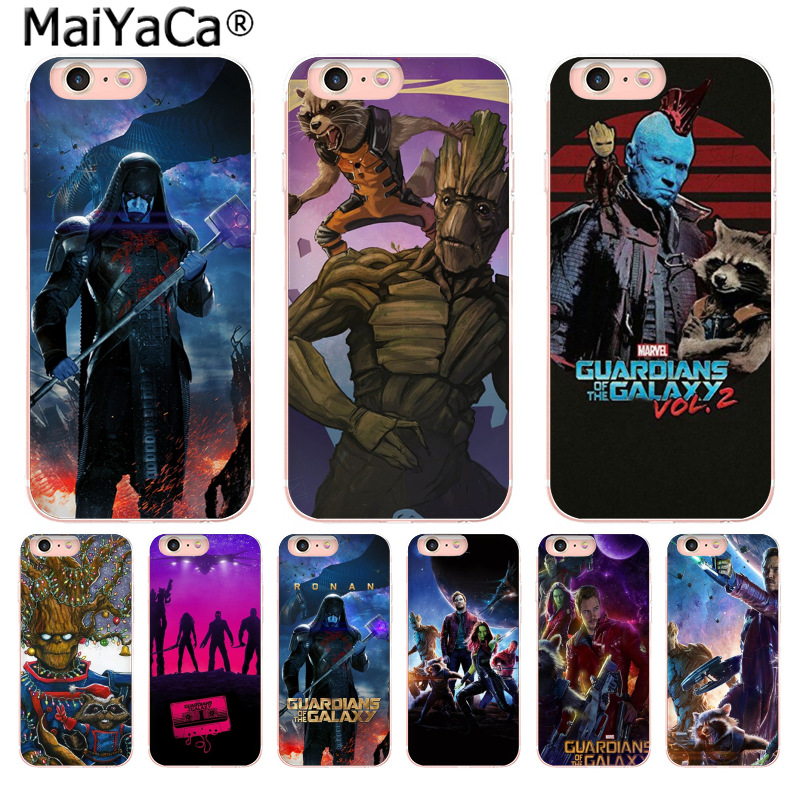 MaiYaCa Guardians of the for Galaxy Marvel rocket phone Accessories cover for iPhone 8 7 6 6S Plus X 10 55SSE 5C 44S Coque Shell