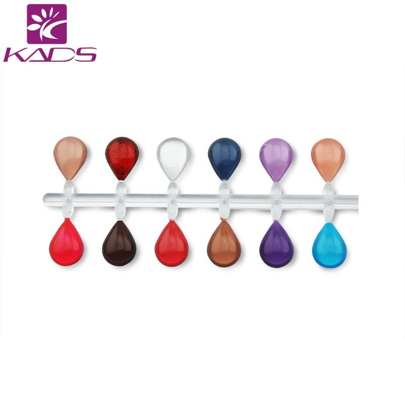 KADS 48tips Nail Display For Polish UV Gel Shower 3d Oval Water Dorp ...