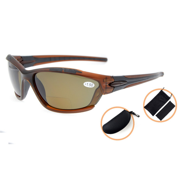 TH7007PGSG Eyekepper TR90 Unbreakable Sports Polycarbonate Polarized Bifocal Sunglasses +1.50/+2.0/+2.5