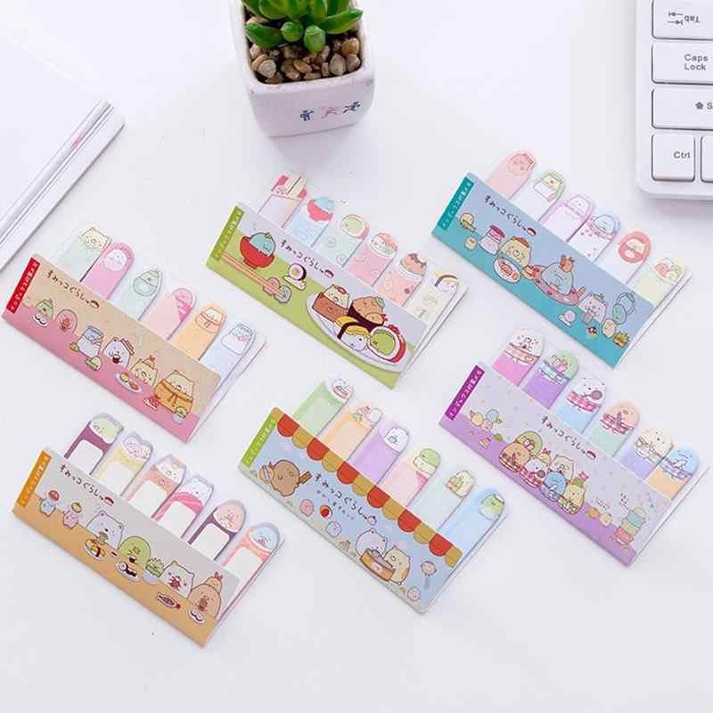 Leuke Vinger Note Book Bericht Strip N Keer Post Rij Zitten Sticky Note Diy Dier Stickers Office School Supply Briefpapier