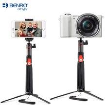 BENRO SC1 carbon fiber handheld mini font b Tripod b font portable selfie stick with wireless
