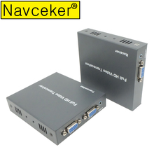 2019 New IP Network 200M Extensor VGA Via Cat5e Cat6 1080P RJ45 VGA Extender Over TCP IP With 3.5 mm Stereo Audio & VGA Loop Out