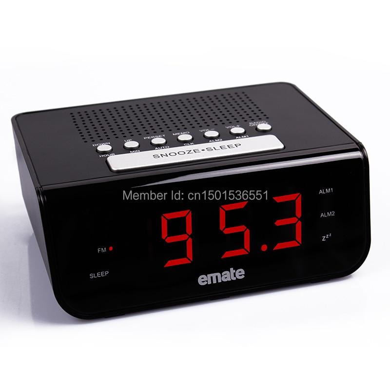 emate m0606fm led digital fm radio dual alarm clock multi function alarm cloc. Black Bedroom Furniture Sets. Home Design Ideas