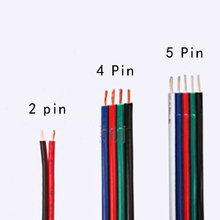 5M/ lot  Extension Cable 4 Pin Connector for RGB 3528 5050 LED Strip Light