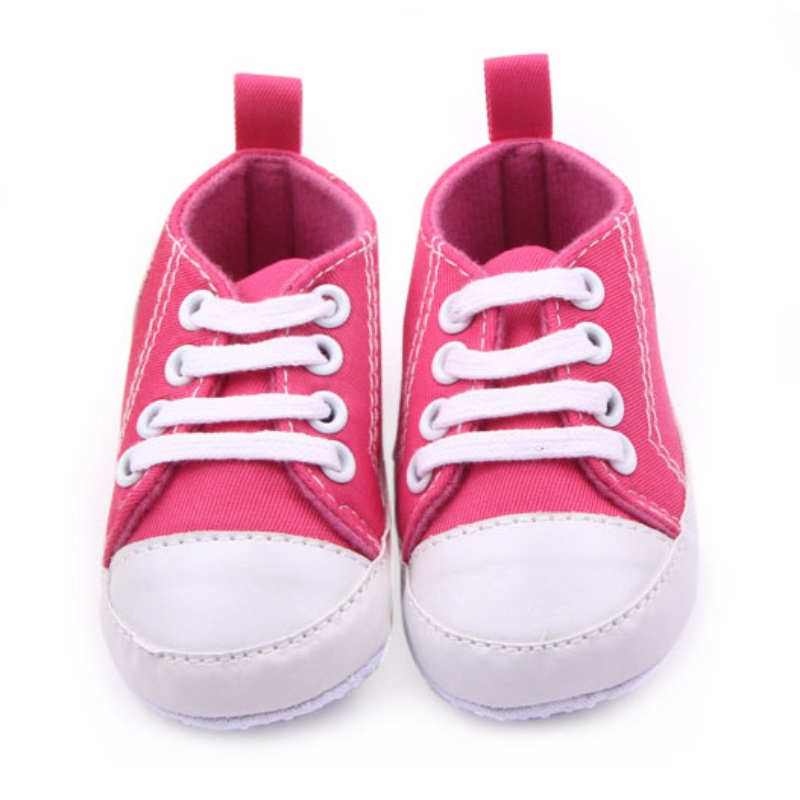 Baby Boy Girl Anti slip Soft Sole Crib Shoes Sneakers Newborn Canvas S to 12M Prewalkers
