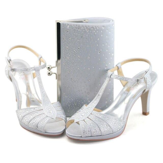 29b66eb3c Senhoras 3.5    sandálias de salto alto sapatos de casamento de LARA com  bolsas de