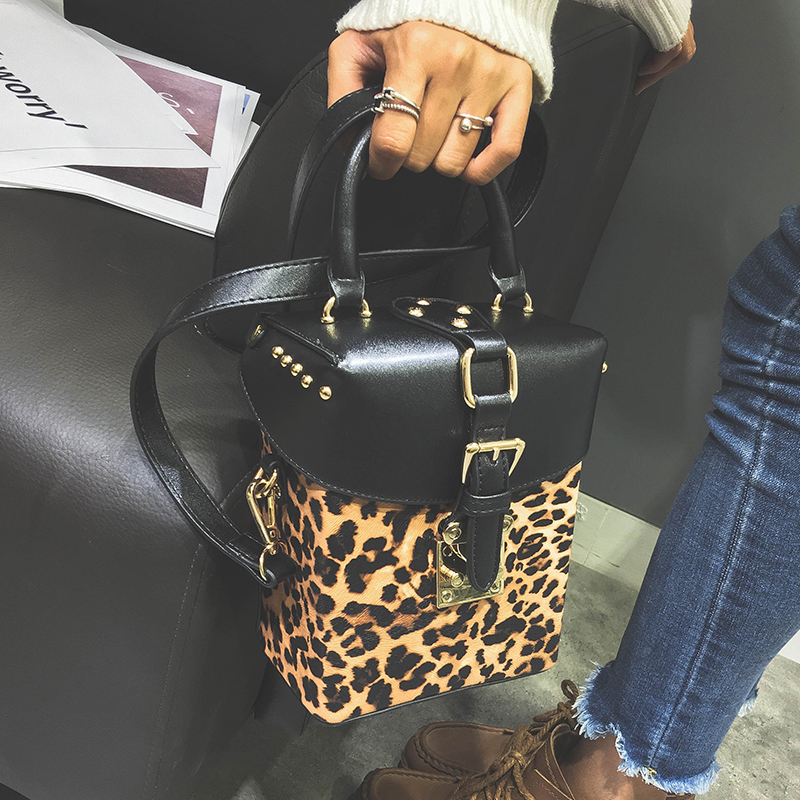 2018 box bag Famous brand Personalized handbags Leopard Print box mini Cube Brand original design crossbody bags for women2018 box bag Famous brand Personalized handbags Leopard Print box mini Cube Brand original design crossbody bags for women