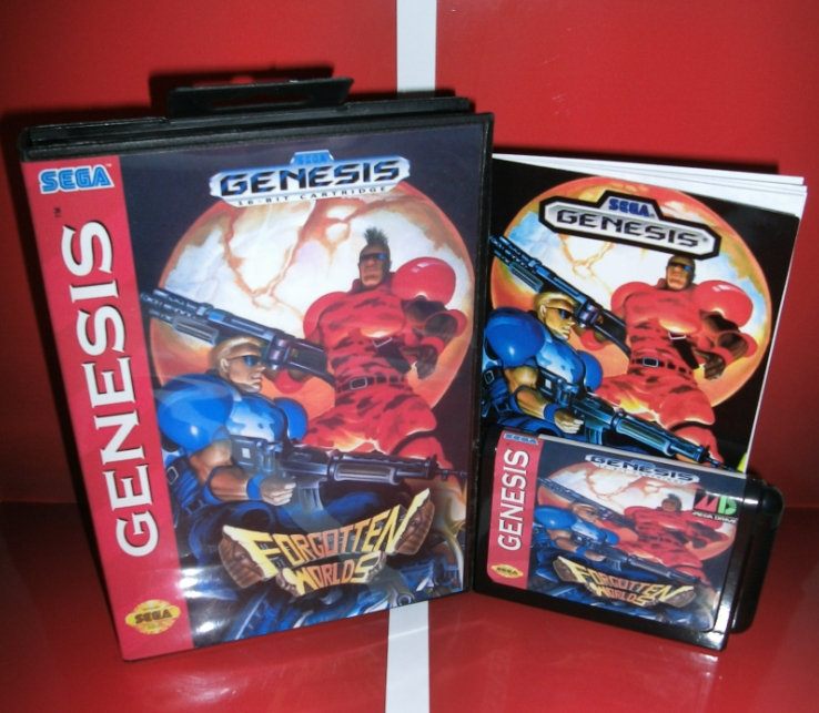 Sega games card - Forgotten Worlds with Box and Manual for Sega MegaDrive Video Game Console 16 bit MD card
