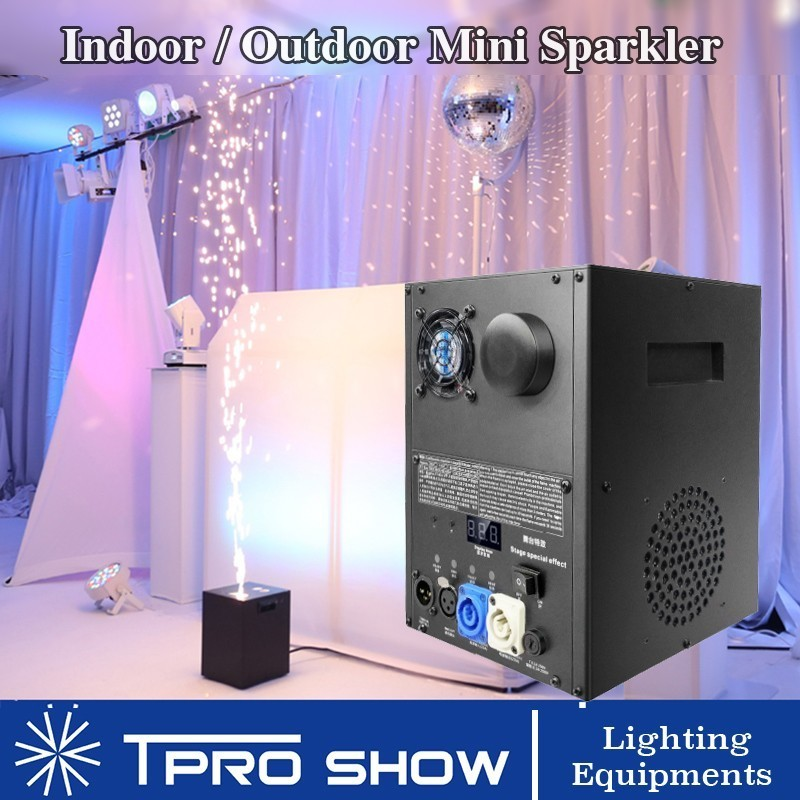 Frio Vela de Fogo De Artifício Sparkler Fonte 400 W Dmx Máquina de Pirotecnia Controle Remoto Projetor para a Fase de Casamento Pó Ti Precisa