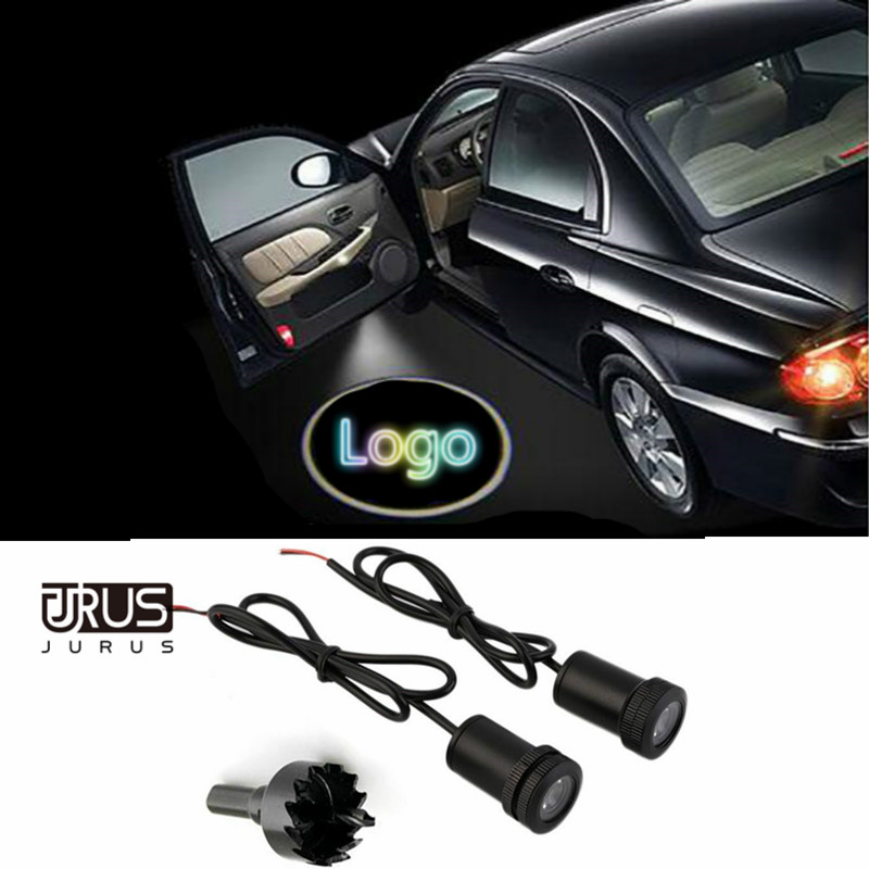 2pcs 4th LED Car Door Light Courtesy Logo Laser Projector Ghost Shadow Light for Mazda VW Nissan Renault Lada Ford Car-styling new 2pcs pair high power led ghost shadow light logo projector vehicle door courtesy laser for bmw brand car styling logo design