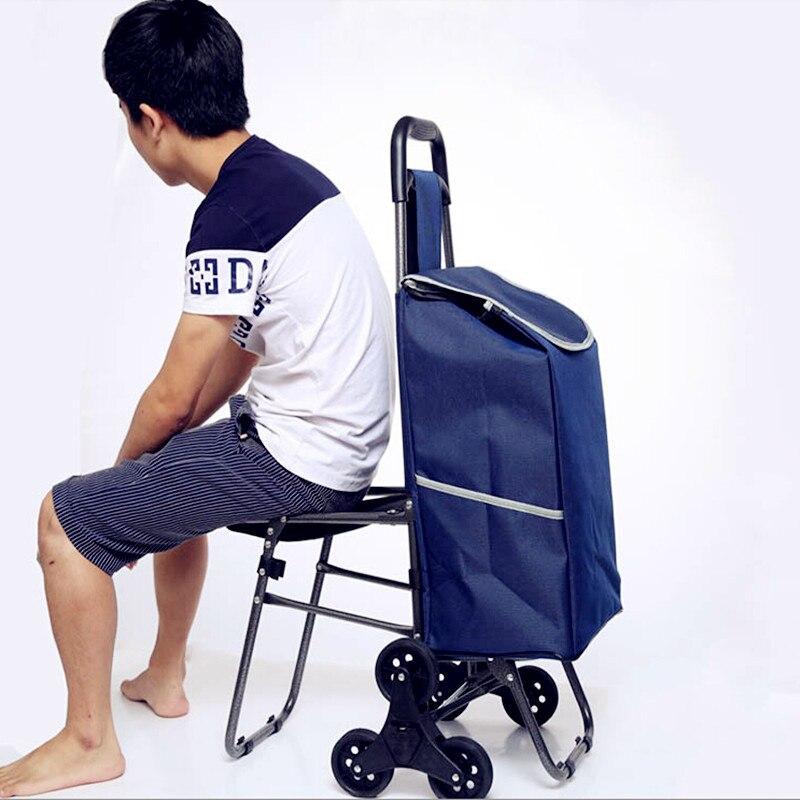 2017 для продвижения производителей супермаркет корзина складная ручной вытащил тележки для багажа Корзина со стулом