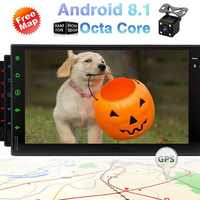 Cam-in Video Out Octa-core Car Stereo Android 8.1 Oreo Head Units 7 Inch Capacitive Touch Screen Double 2 Din Car GPS Navigation