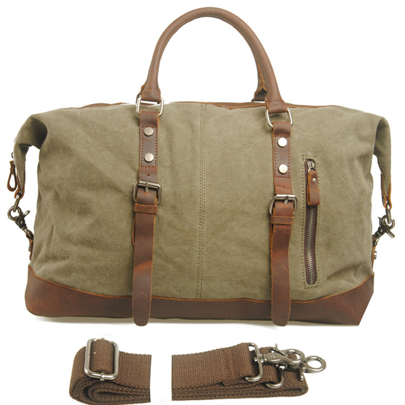 Men Travel Bags Military Canvas Duffle Bag Large Capacity Luggage Weekend Vintage Designer Carry On Overnight Tote In From