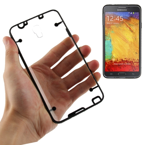 samsung Transparent Plastic + Fluorescent Effect TPU Frame Case Samsung Galaxy Note 3 Neo N7505 cover - WT 3C Accessories Online Store store