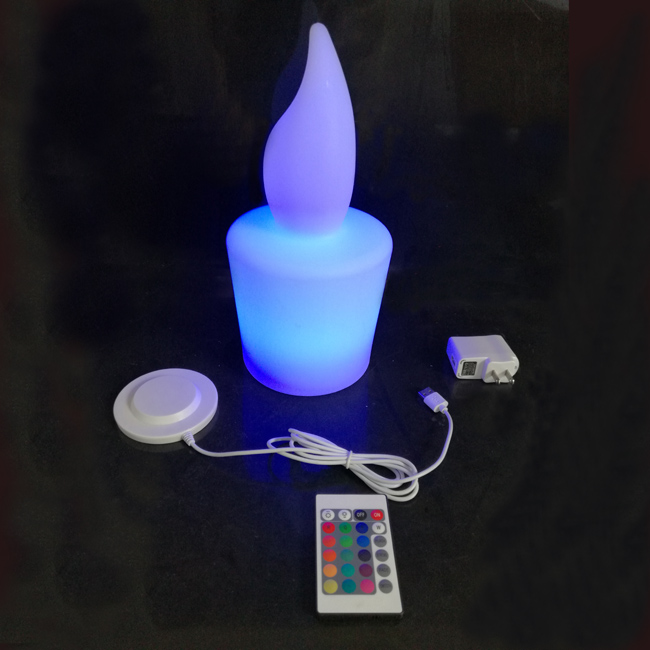 New Arrival D13*H28cm waterproof Ip65 LED Electrical Candel Rechargeable Lighting for Hotel Bar Party Free shipping 10pcs/lot