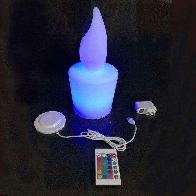 Nouveauté D13 * H28cm étanche Ip65 LED électrique Candel éclairage Rechargeable pour hôtel Bar partie livraison gratuite 10 pcs/lot