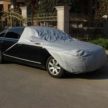 Универсальный Серебряный автомобилей половина покрова ветрового стекла жалюзи двигателя протектор автомобиль охватывает Anti UV защита для салона хэтчбек внедорожник MPV