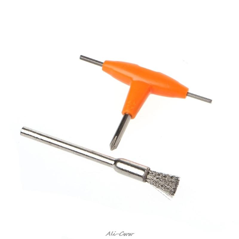 T-Type Screwdriver + Cleaning Brush Kit Electronic Cigarette Atomizer Tanks Heating Coils DIY Tool