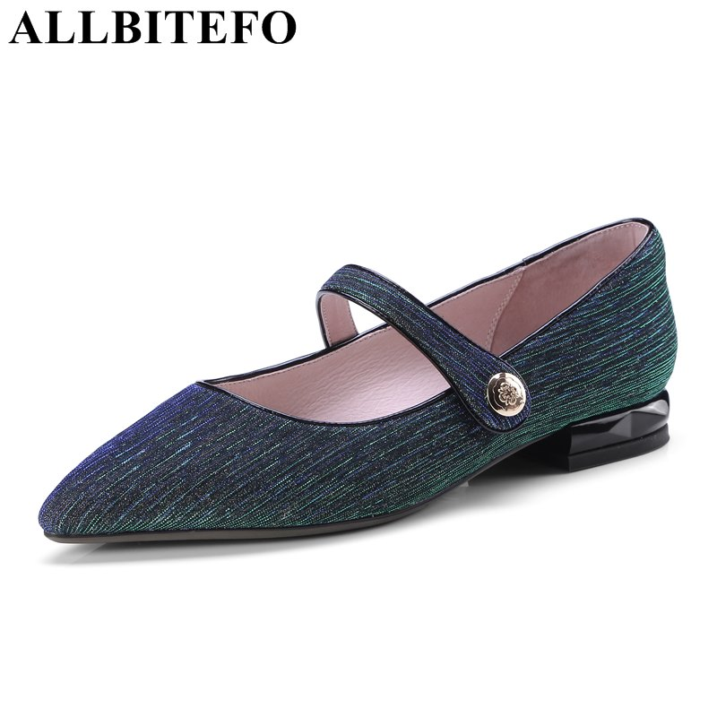 ALLBITEFO 2018 new spring pointed toe thick heel women pumps low-heeled high quality girls fashion high heels high heel shoes new 2017 spring summer women shoes pointed toe high quality brand fashion womens flats ladies plus size 41 sweet flock t179