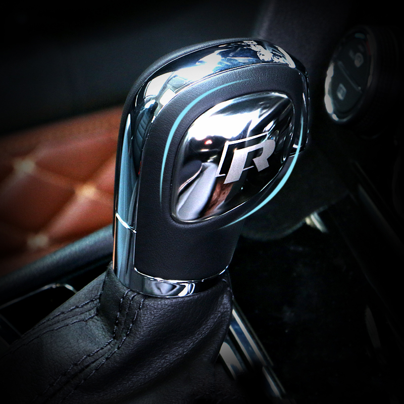 Car Styling Gear Shift Knob Gear Head Sticker Cover For VW Volkswagen POLO CC Golf 7 6 Bora Tiguan Passat B5 B6 B7 Jetta mk5 mk6