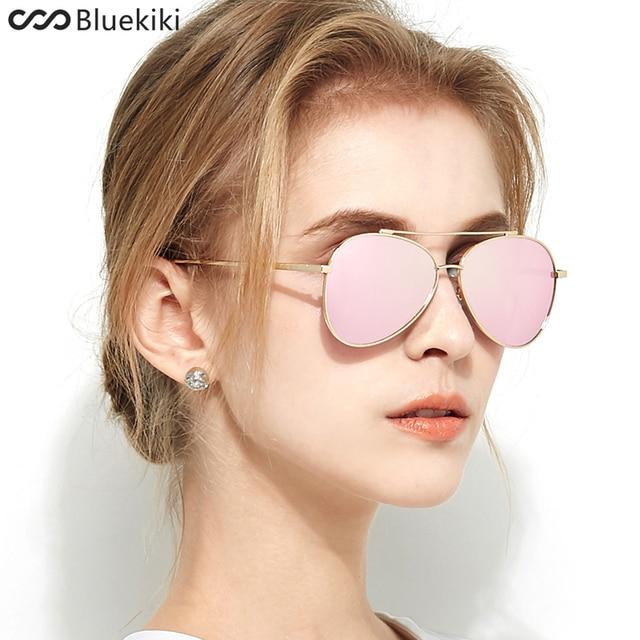 a2c380844 KIKI Mulheres Polarizada Óculos De Sol Elegante Marca Designer Pilot  Condução Rose Ouro Steampunk Eyewear Oculos