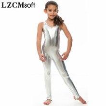 594856d13fd2 Lzcmsoft kids long sleeve metallic unitards stirrups dance ...