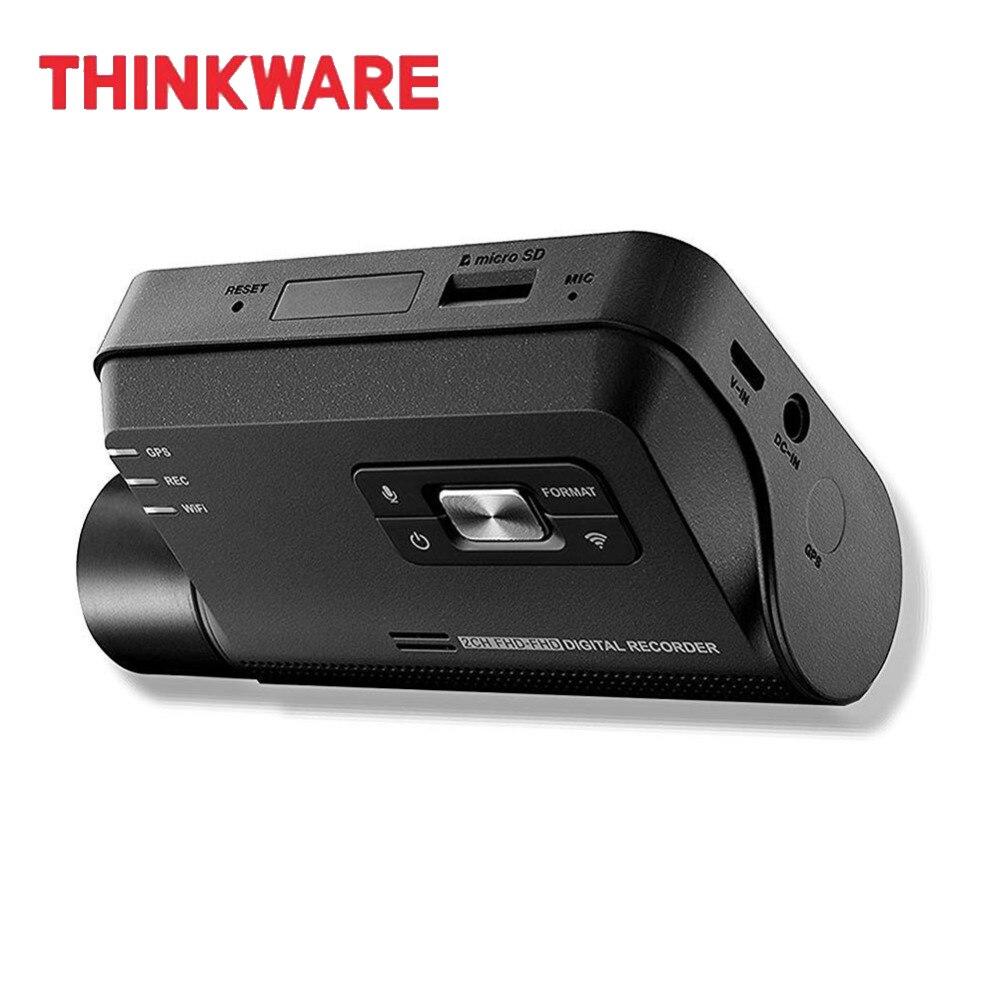 Thinkware регистраторы F800 PRO Видео Регистраторы 1 канал поле HD Видеорегистраторы для автомобилей Micro SD карты Hardwiring комплект