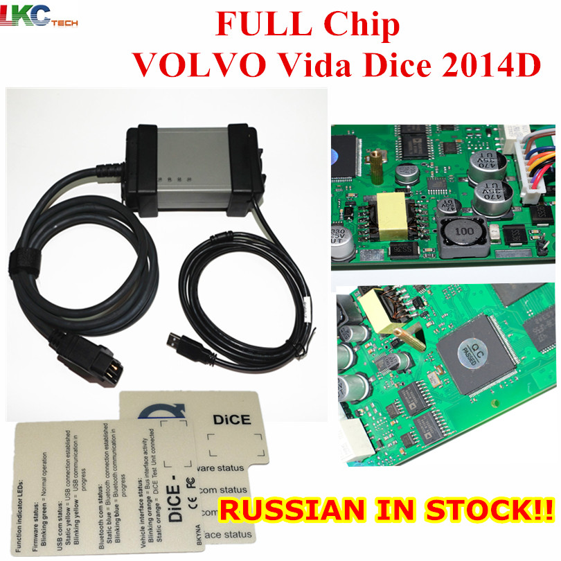 Newest 2014D Full Chip For V-o-l-vo Vida Dice Diagnostic Tool Multi-Language For Vo-l-vo Dice Pro Vida Dice Green Board best car tuning version vida dice 2014d for professional diagnostic scanner multi language warranty quality and free ship