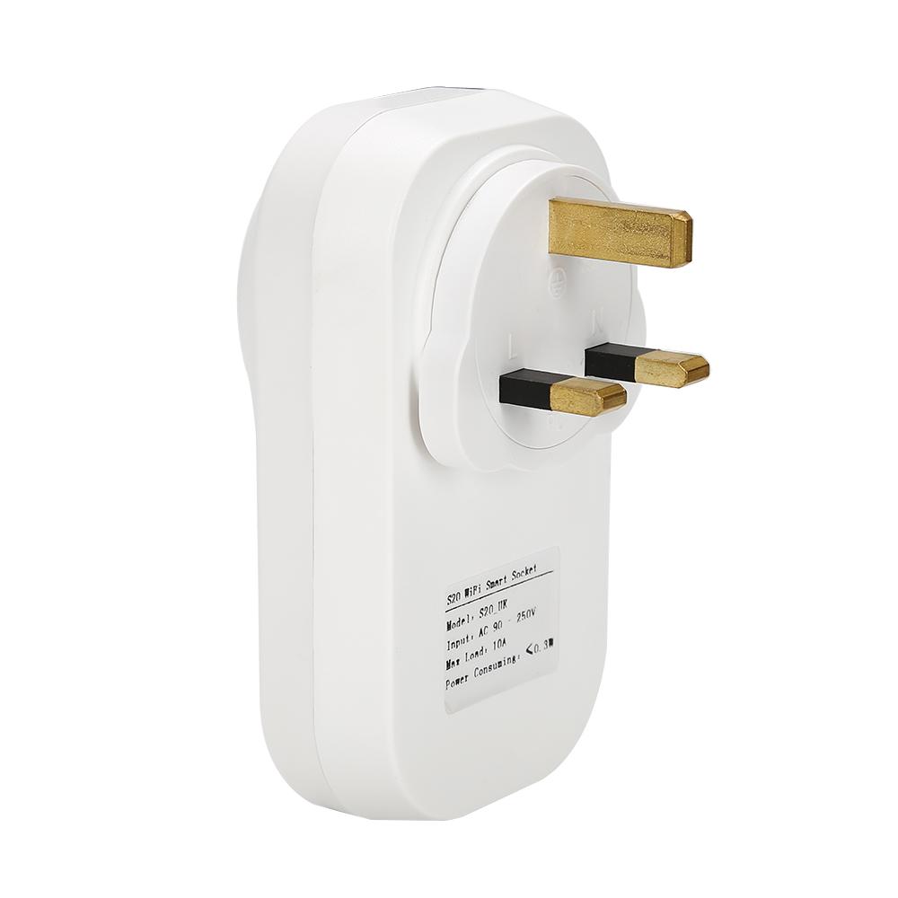 Gorący sprzedawanie Sonoff S20 Inteligentnego Domu Ładowania Adapter Bezprzewodowy Inteligentny Przełącznik BEZPRZEWODOWY Pilot Zdalnego Sterowania Gniazdo Zasilania UE/USA/UK Standard 15