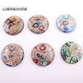Fashion Round Lampwork Art Murano Glass Pendants Fit for Necklace DIY Women Girls Gift Charms DIY Jewelry Making C317
