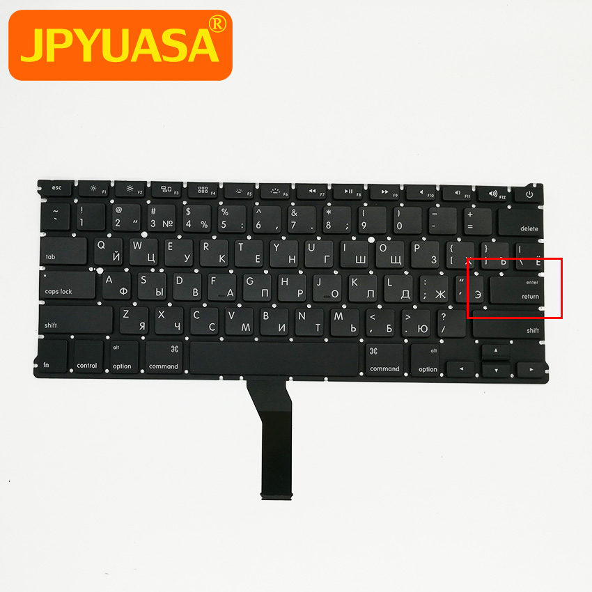 New Small Enter Key RU Russian keyboard For MacBook Air 13