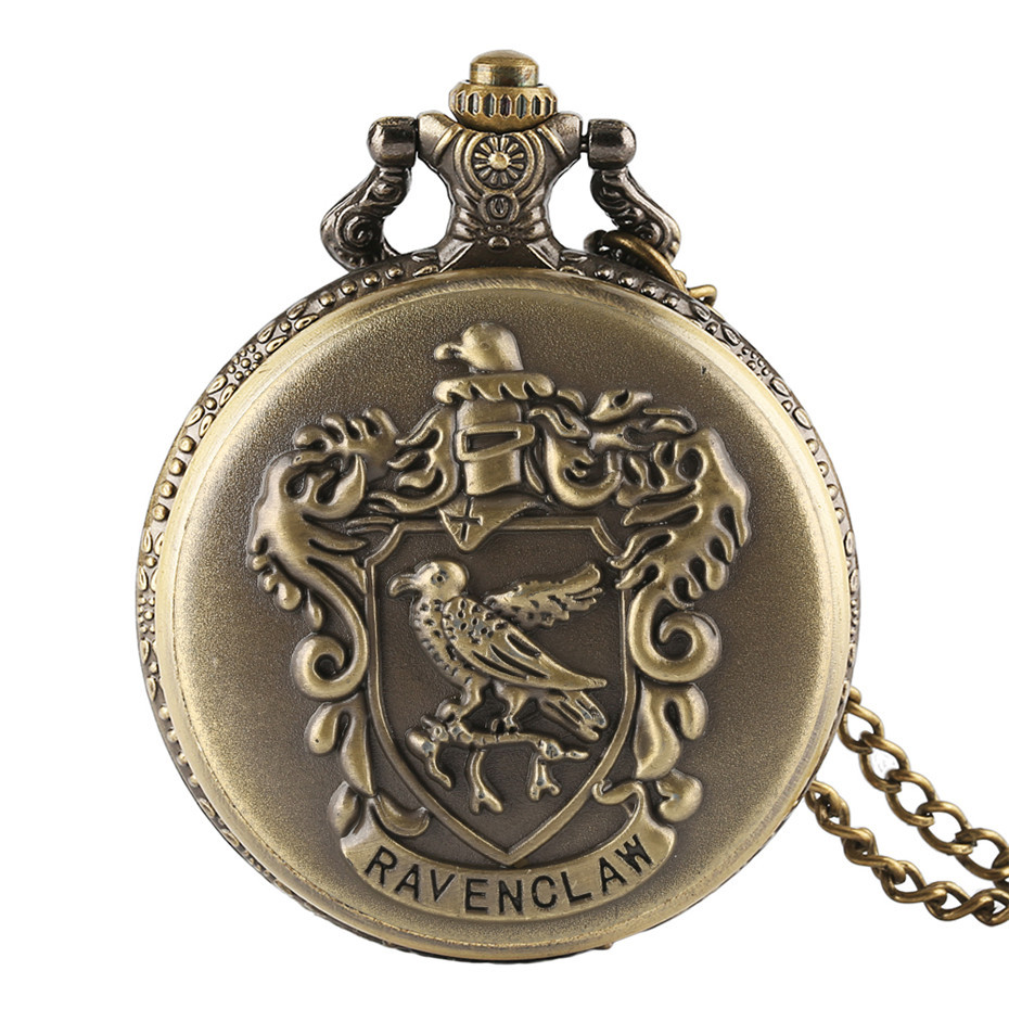 2016 New Arrival Classic Ravenclaw Designer Quartz Pocket Watch With Necklace Chain For Men Women Xmas Gift new arrival bronze fishing angling quartz antique pocket watch with necklace chain for men and women
