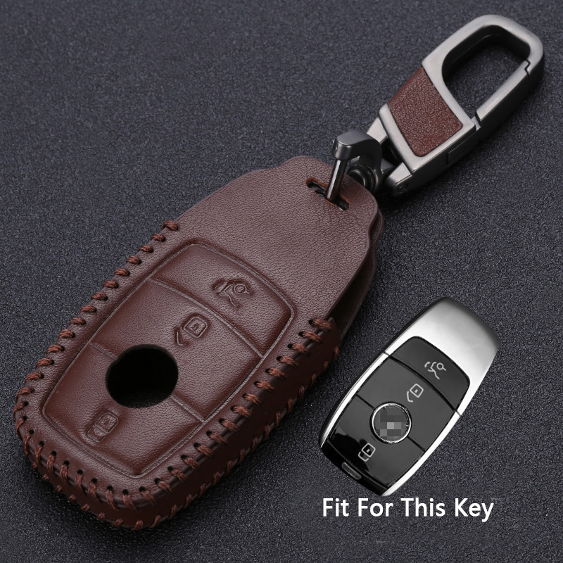 Leather Car Key Cover Case For Mercedes Benz W213 A C E S GLS Class E43 E300 E400 E200 E220 Maybach S320L S450 S350 E300L E260