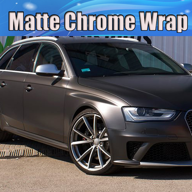 Aliexpress Com Buy Anthracite Matte Metallic Matte Chrome Vinyl Wrap Air Release Metallic