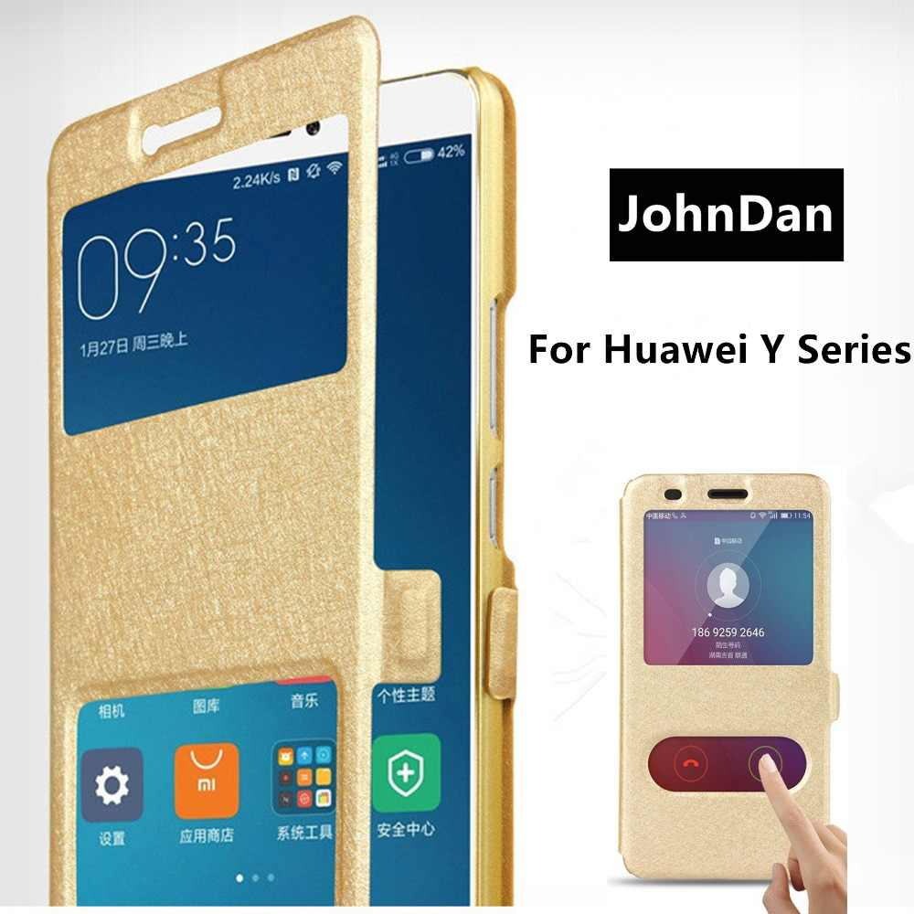 For Huawei Y6 Y7 Y5 Y9 Prime 2019 Y3 2018 2017 2016 Flip Book Case On For Huawei Y 6 3 5 7 9 Prime II Pro 2019 2018 2017 20216 Y5II Y3II Y6II Fold Cover Leather Cases Funda