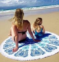 Free Shipping Hot Sale 150 150cm Thin Style Round Beach Towel Bath Towel Yoga Mat Beach